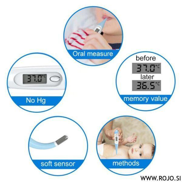zvočni natančni otroški termometer
